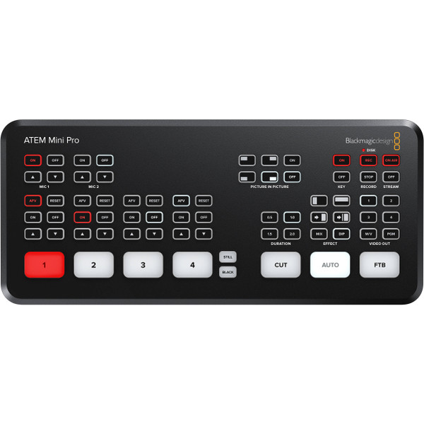 Blackmagic Design ATEM Mini Pro HDMI Live Stream Switcher (SWATEMMINIBPR)