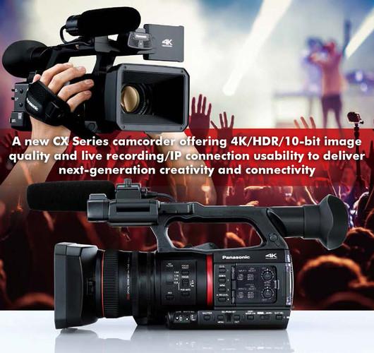 Announcing the Panasonic AG-CX350 4K/HDR/10-bit handheld Camera