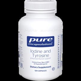 Pure Encapsulations - Iodine and Tyrosine 120 vcap