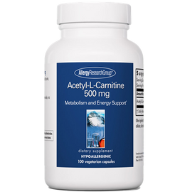 Allergy Research Group - Acetyl-L-Carnitine 500 mg 100 Capsules
