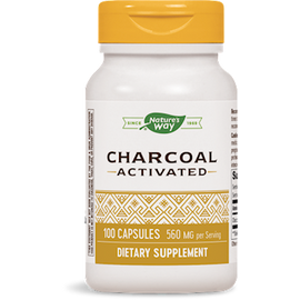 Nature's Way - Activated Charcoal 560 mg 100 Capsules