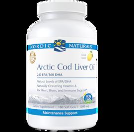 Nordic Naturals - Arctic Cod Liver Oil Lemon 180 Softgels
