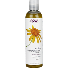 NOW - Arnica Warming Relief Oil 8 fl oz