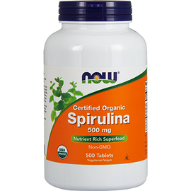 NOW - Spirulina 500 mg 500 Tablets