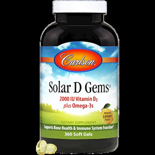 Carlson Labs - Solar D Gems 2000 IU 360 Softgels