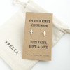 Holy Communion Silver Earrings