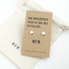 Brightest Star Silver Earrings For Mum