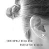 Christmas Hugs Mistletoe Kisses Silver Earrings