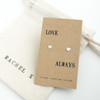 Love Always Silver Earrings