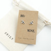 Bee Mine Silver Earrings