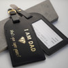 Super Dad Black Leather Luggage Tag