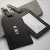 Personalised Wedding Leather Luggage Tag
