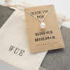 Bridesmaid Gift Pearl Necklace