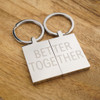 Better Together Stainless Steel Keyring