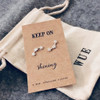 Keep On Shining Silver Star Earrings