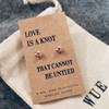 Rose Gold Love Knot Earrings