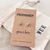 Friendship Grows Here Silver Earrings