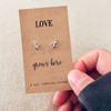 Love Grows Here Silver Earrings