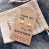 Maid Of Honour Pearl Earrings