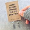 You Have Wings Silver Hoop Earrings