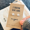 You Are Magic Silver Emoji Earrings
