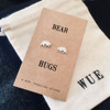 Bear Hugs Silver Earrings Wue