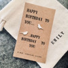 Happy Birthday Song Bird Silver Earrings Personalised