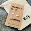 Friendship Moves Mountains Silver Earrings Wue