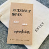 Friendship Moves Mountains Silver Earrings Personalised