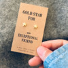 Gold Star Friend Earrings Lifestyle