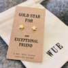 Gold Star Friend Earrings Wue
