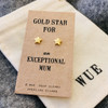 Gold Star Mum Earrings Wue