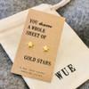 Gold Stars Earrings Wue
