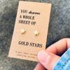 Gold Stars Earrings Lifestyle