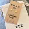 Gold Star Teacher Earrings Wue