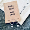 Keep Flying High Silver Airplane Earrings Personalised