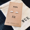 Mama Bear Silver Earrings Wue