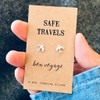 Safe Travels Silver Earrings Lifestyle