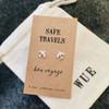 Safe Travels Silver Earrings Wue