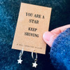 You Are A Star Silver Hoop Earrings  Lifestyle