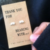 Thank You Bear Silver Earrings Lifestyle