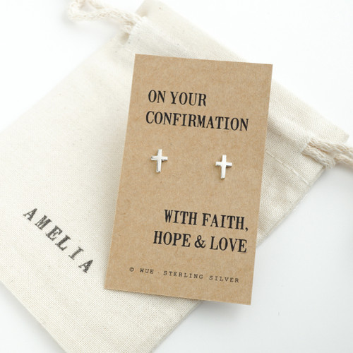 Confirmation Silver Earrings