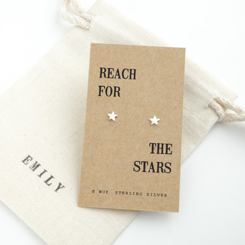 Reach For The Stars Silver Earrings