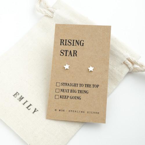 Rising Star Silver Earrings