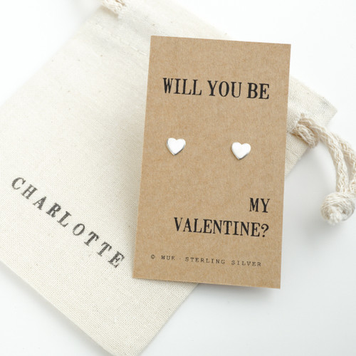 Be My Valentine Silver Earrings