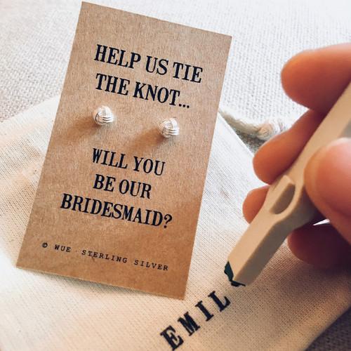 Bridesmaid Knot Earrings