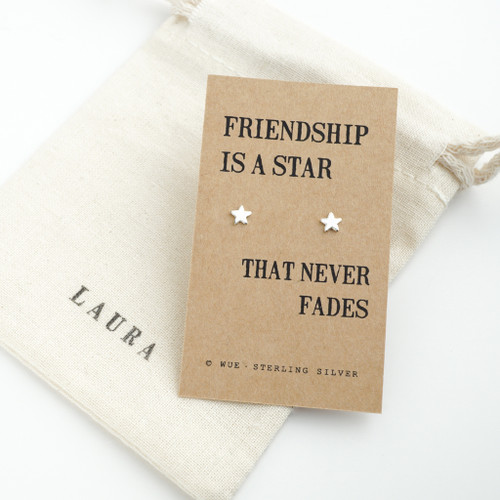 Silver Friendship Star Earrings