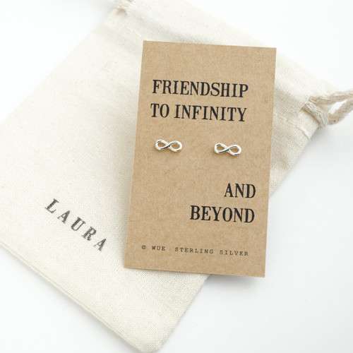 Silver Friendship Infinity Earrings