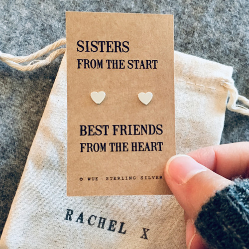 Sister Gift Silver Earrings