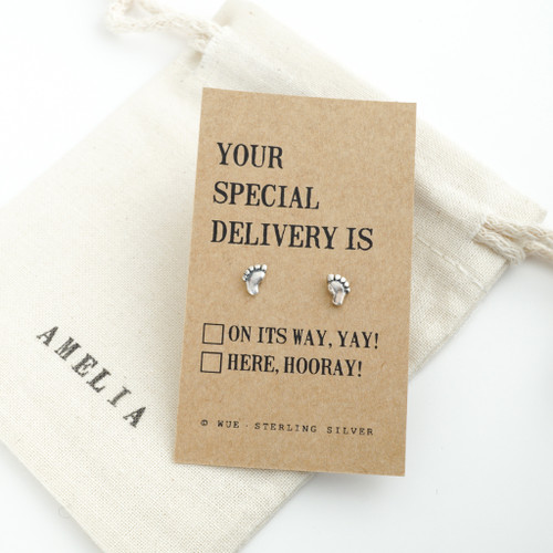 Your Special Delivery Silver Earrings